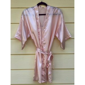 Other - Light pink Bridesmaid Robe embroidered